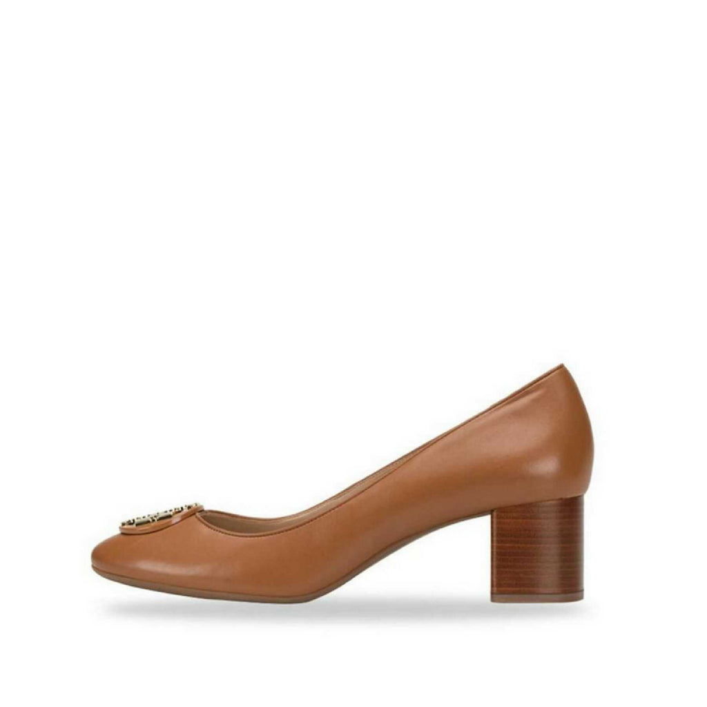 Tory Burch Janey 85mm Pump/Calf Leather Royal Tan (Size 7)