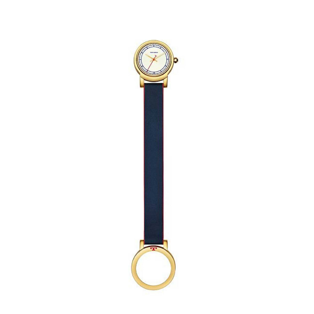Tory Burch TBW6001 Ellswort Watch Navy Leather Gold Tone