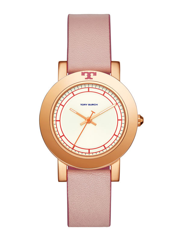 Tory Burch Tbw6002 Ellsworth Leather Strap Pink