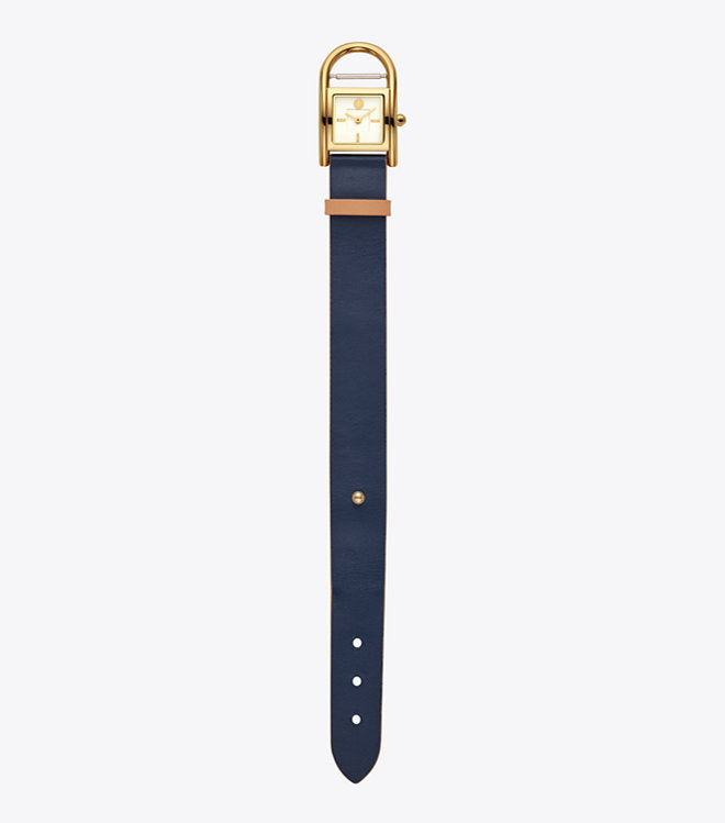 Tory Burch Tbw7500 Thayer Navy Gold Watch