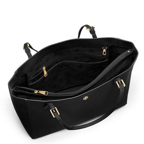 Tory Burch York Small Buckle Tote Black