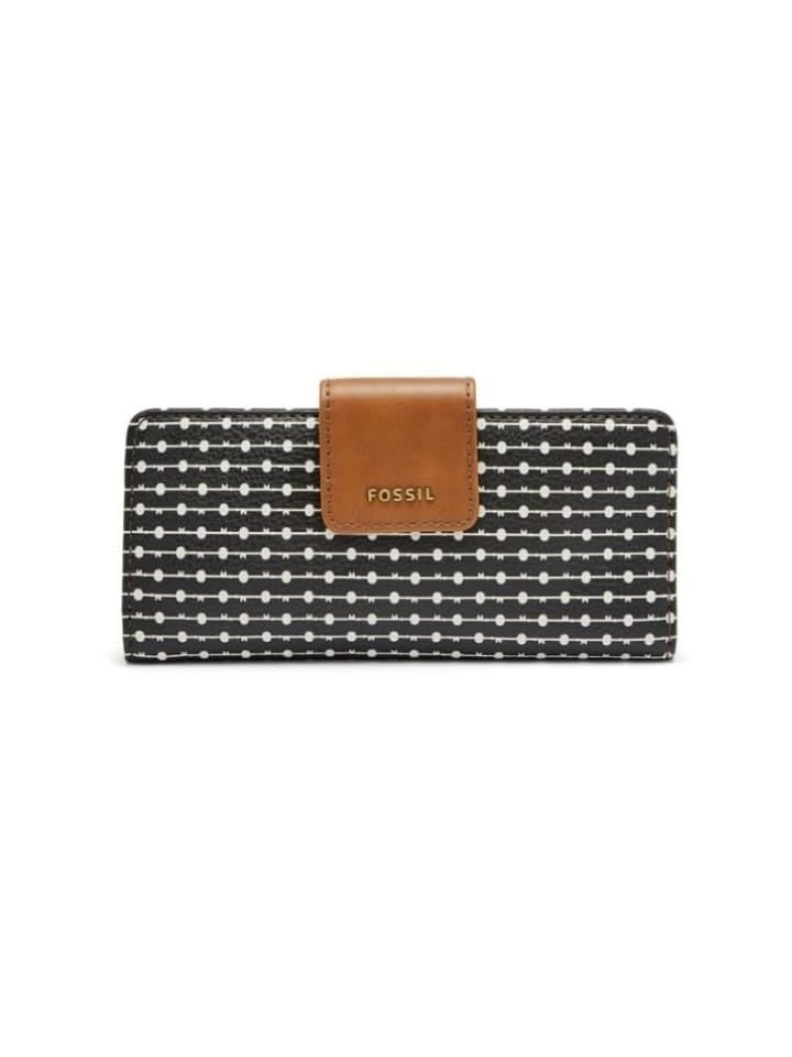 Fossil Swl1885005 Madison Slim Clutch Medium Black/white
