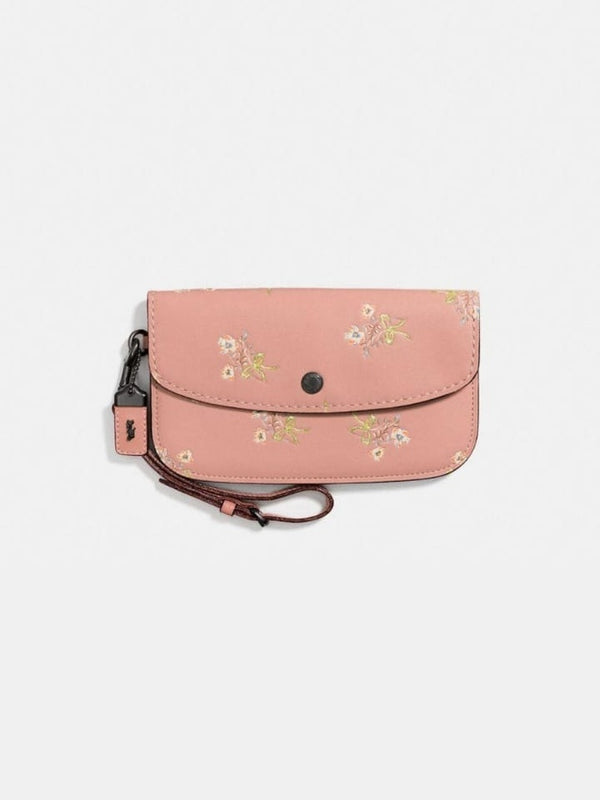 Coach F21645 Floral Bow Prnt Leather Pink