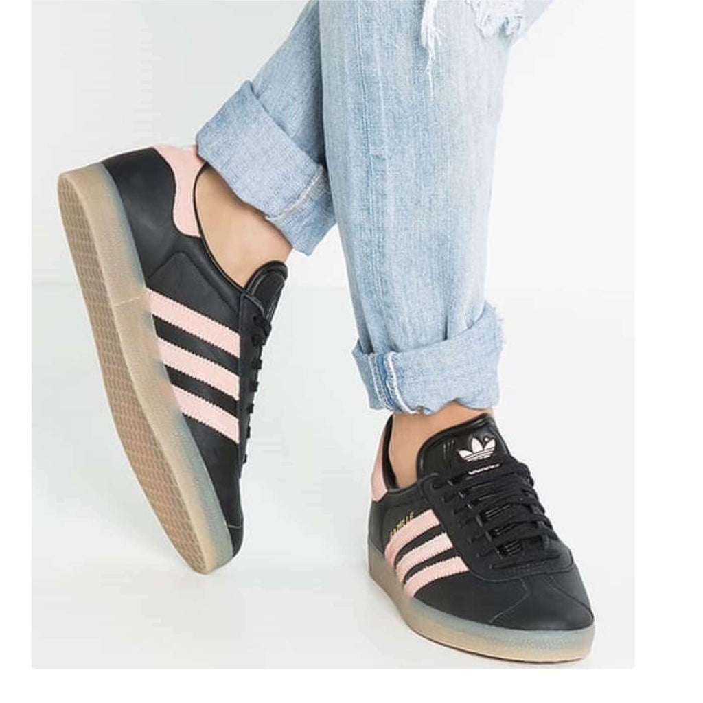 Adidas BB0661 Womens Gazelle Trainers Black, Vapour Pink, Gum Gazelle
