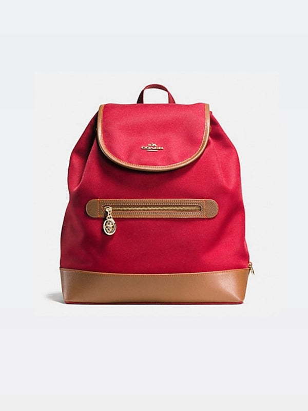 Coach f37240 Sawyer Backpack In Canvas Classic Red