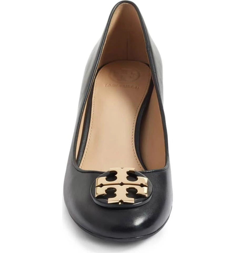 Tory Burch 43395 Janey Pumps /calf Leather Perfect Black 50 Mm (8.5)