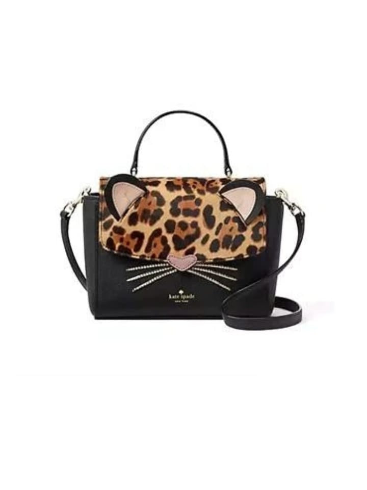 Kate Spade New York Wkru5377 Run Wild Leopard Kerrie Black