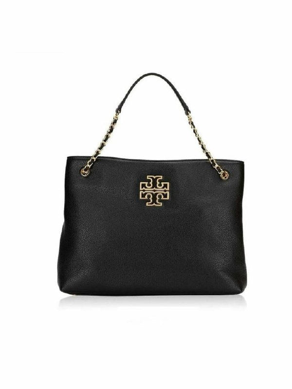Tory Burch 60396 Britten Triple Compartement Tote Black