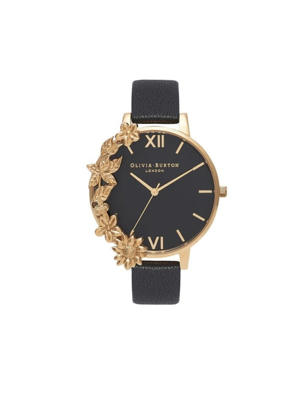 Olivia Burton OB16CB07 Black Dial and Gold