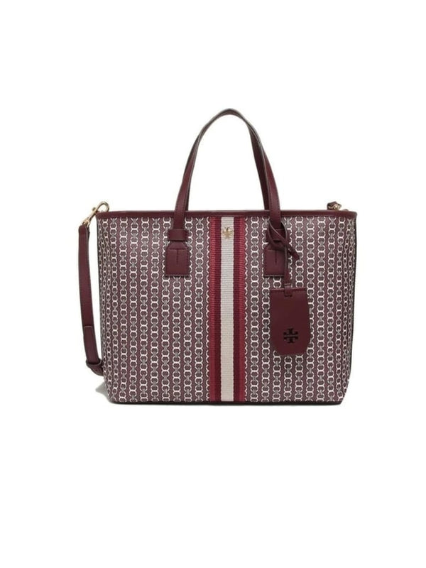 Tory Burch 53304 Gemini Link Small Tote Royal Burgundy