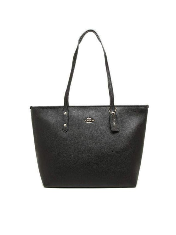 Coach F58846 Tote City Zip Black
