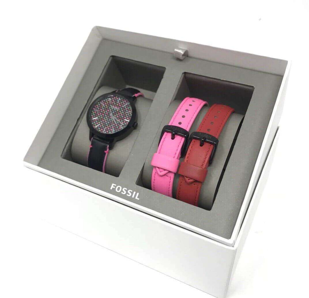 Fossil Bq3151set  Suitor Three Hand Interchangeable Strap Gift Set