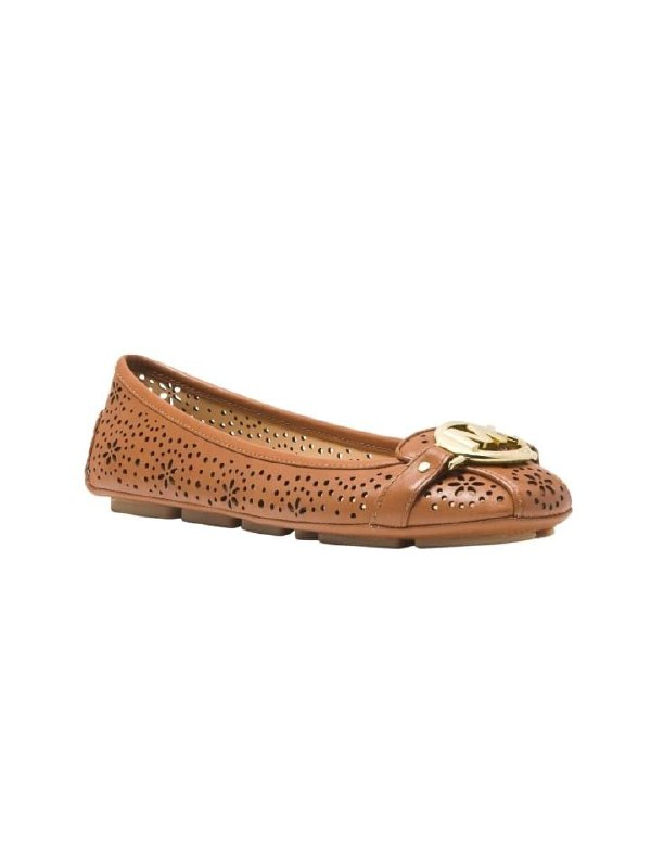 Michael Kors Fulton Brown Leather Flats Size 6