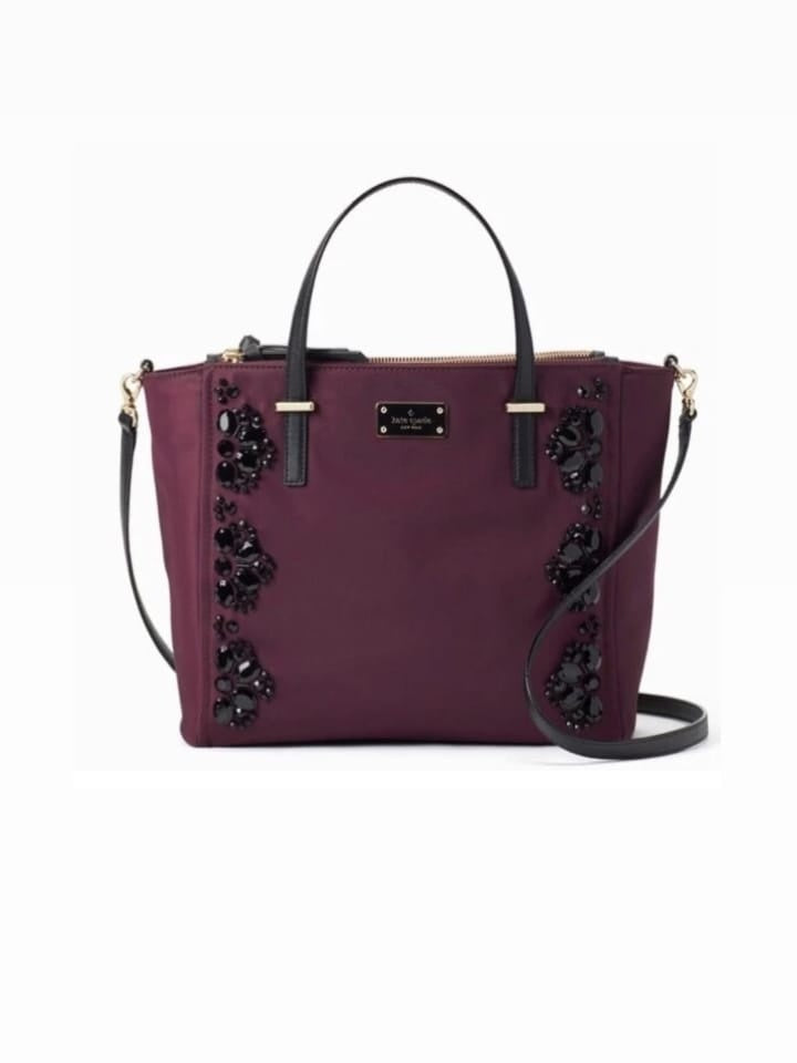 Kate Spade Wkru5391 Wilson Road Embellished Alyse Deep Plum