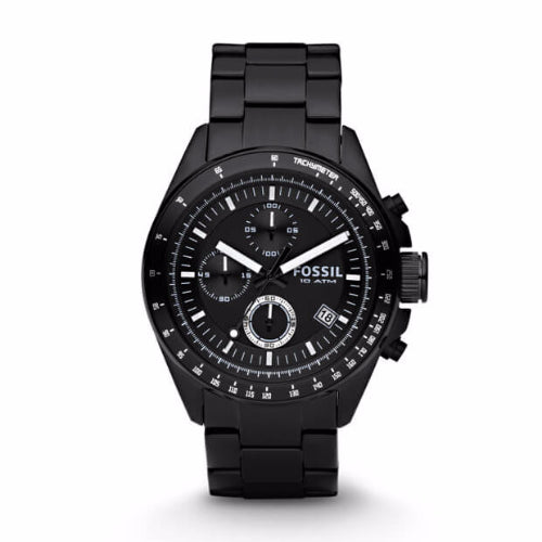Fossil Ch2601 Decker Chronograph Black Stainless Steel Watch