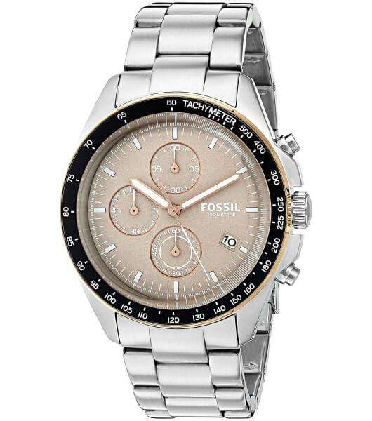 Fossil Sport 54 Beige Dial Chronograph Men's Watch
