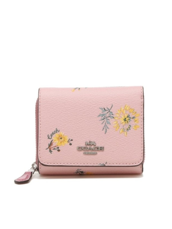 coach 2924 small trifold wallet blossom multi