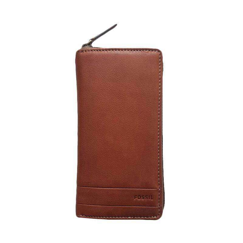 jam-Sml1447201-Fossil Lufkin Long Wallet Medium Brown-Balilene