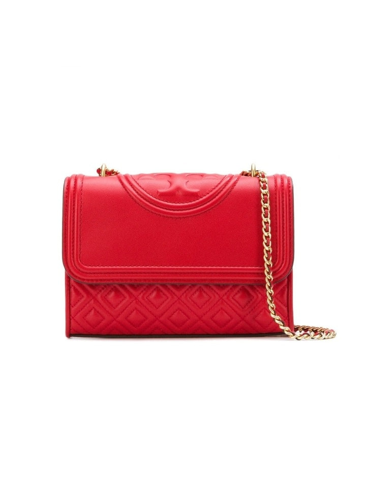 Tory Burch 43834 Fleming Small Convertible Shoulder Bag Brilian Red