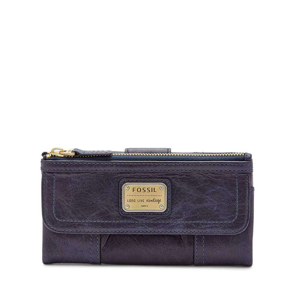 Fossil Emory Clutch Midnight Navy