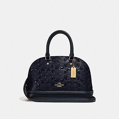 Coach F27597 Mini Sierra In Debossed Patent Midnight