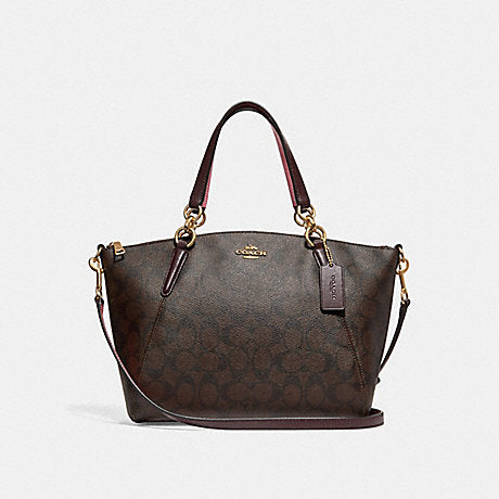 Coach 28989 Signature Small Kelsey Brown Oxblood