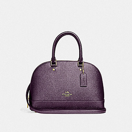 Coach F29170 Mini Sierra Satchel Metallic Raspberry