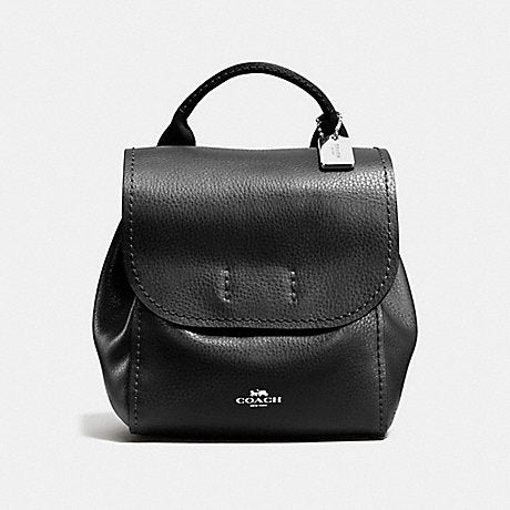Coach F59819 Derby Black Leather Backpack