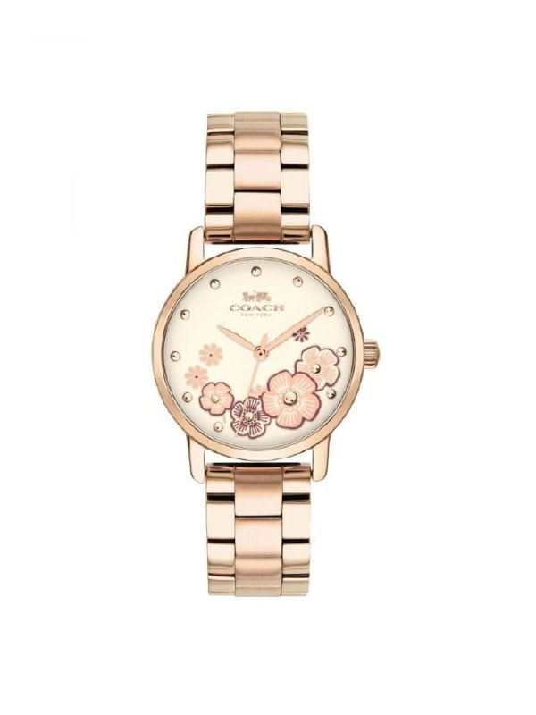 Coach 14503057 Grand Rose Gold Stainless Steel Watch