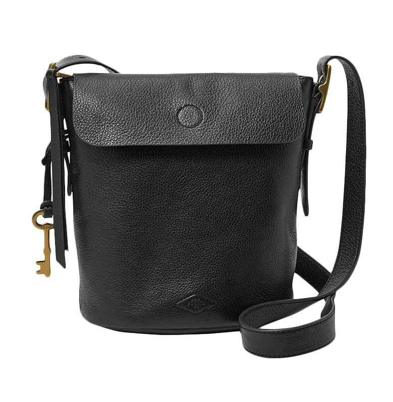 tas Zb6729001 fossil haven small flap bucket black tampak depan