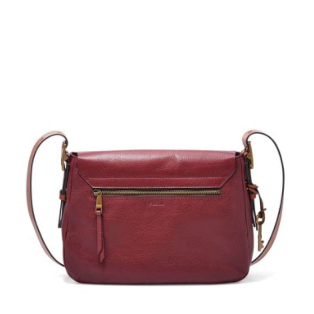 Fossil Harper Large Saddle Crossbody Wine Zb6760609 Tas Original Jam Tangan Wanita Es3264 Bag