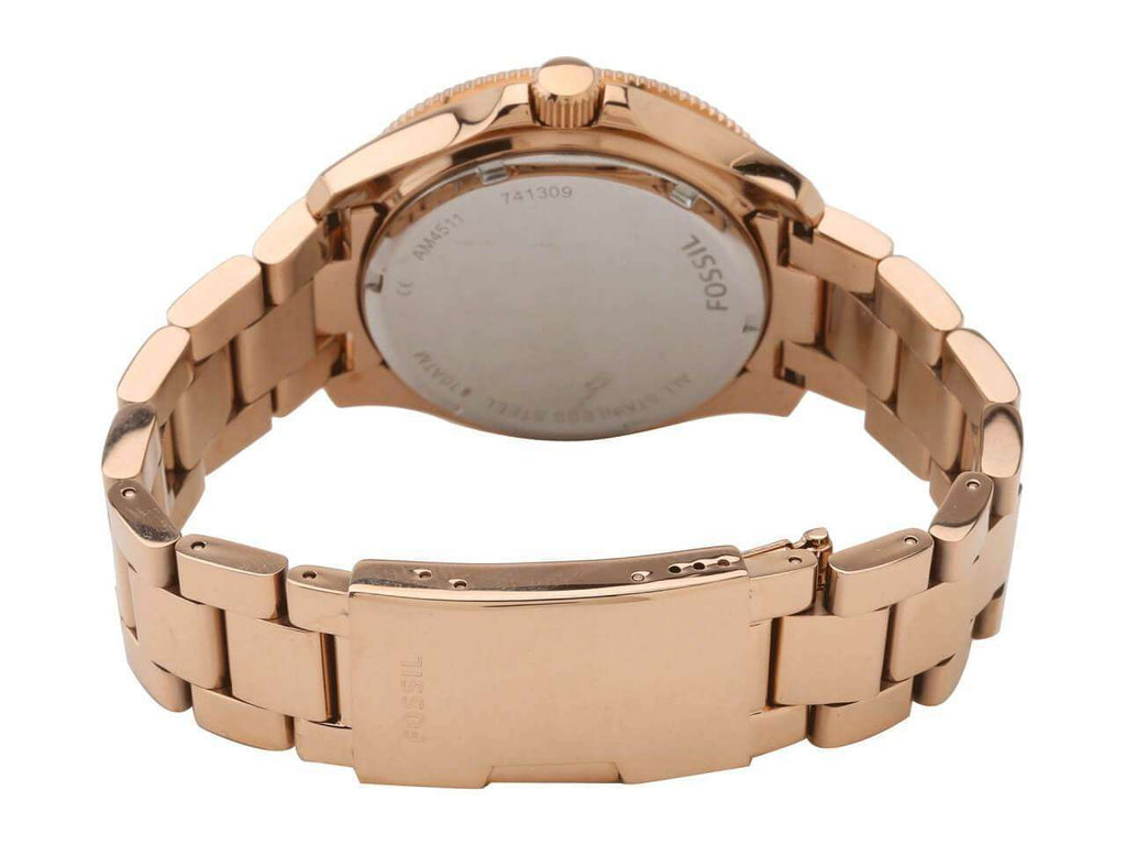 jam-AM4511-Fossil Cecile chronograph Rosegold Watch-Balilene