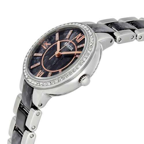 jam-Es3918-Fossil Virginia Gray Dial Ladies Casual Watch-Balilene
