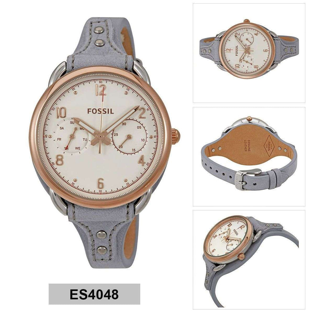 Jam Tangan Fossil Es4048 Tailor Multifunction Iron Leather Watch Wanita Original Es3264 Balilene