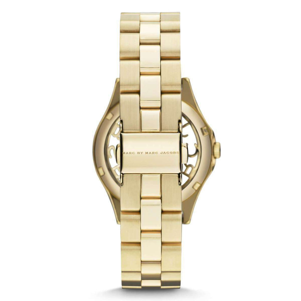 jam-MBM3295-Marc Jacobs Henry Gold Dial Gold-plated Ladies Watch-Balilene