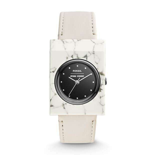 jam-Ocf1004-Fossil Opening Ceremony Gemstone Three Hand White-Balilene