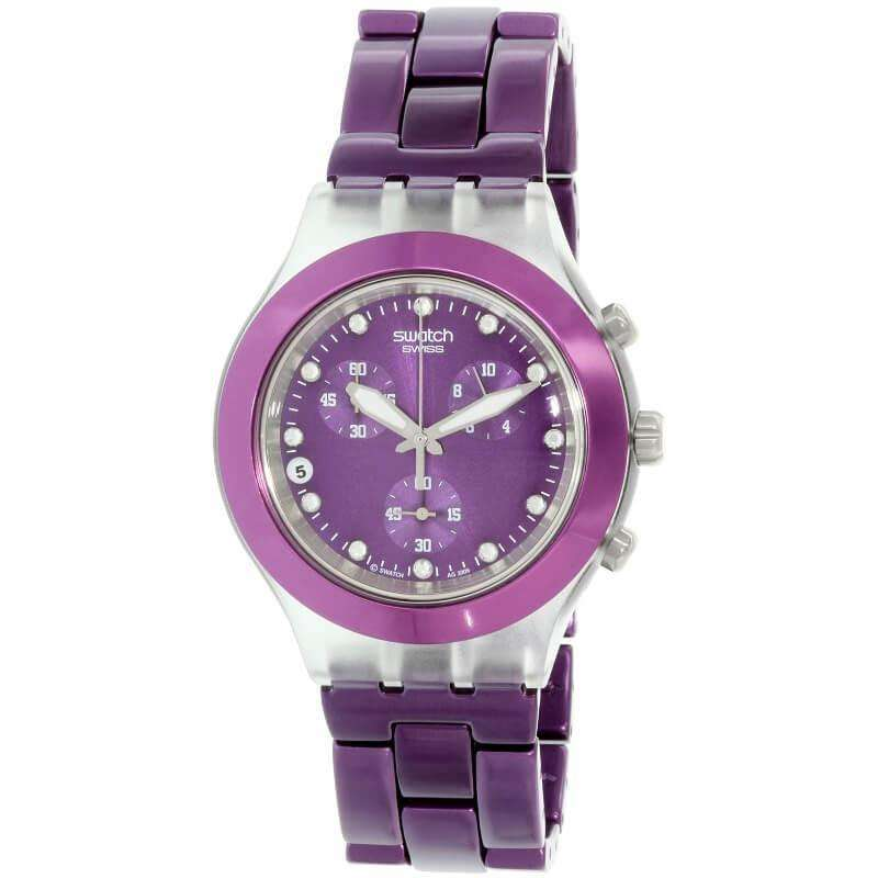 jam-SVCK4048AG-Swatch Full Blooded Blueberry Unisex Watch-Balilene