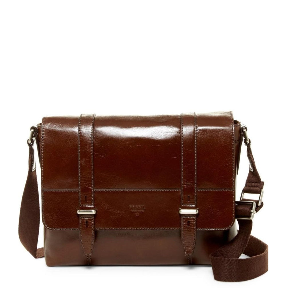 Fossil Sbg1146201 Kent Leather Commuter Bag In Brown