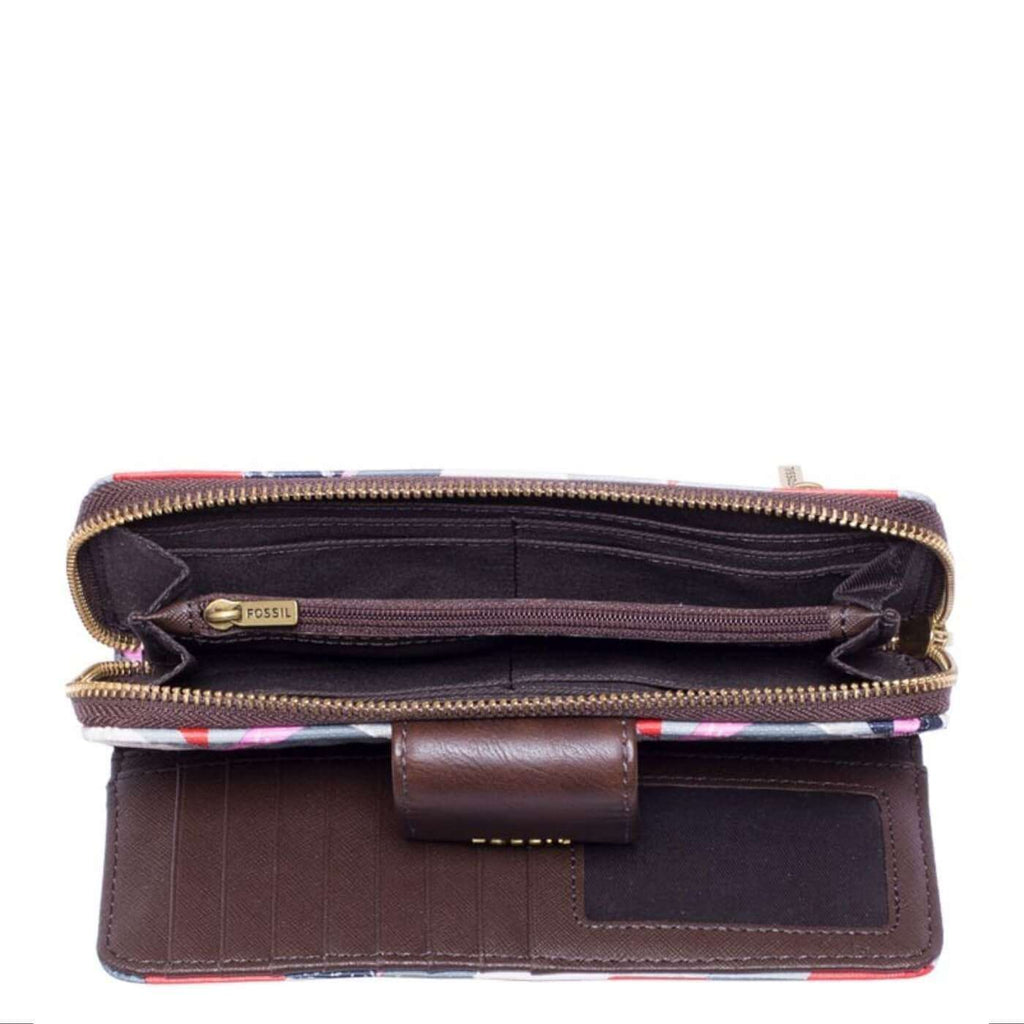 Fossil Swl1434998 Madison Zip Clutch Pink Multi