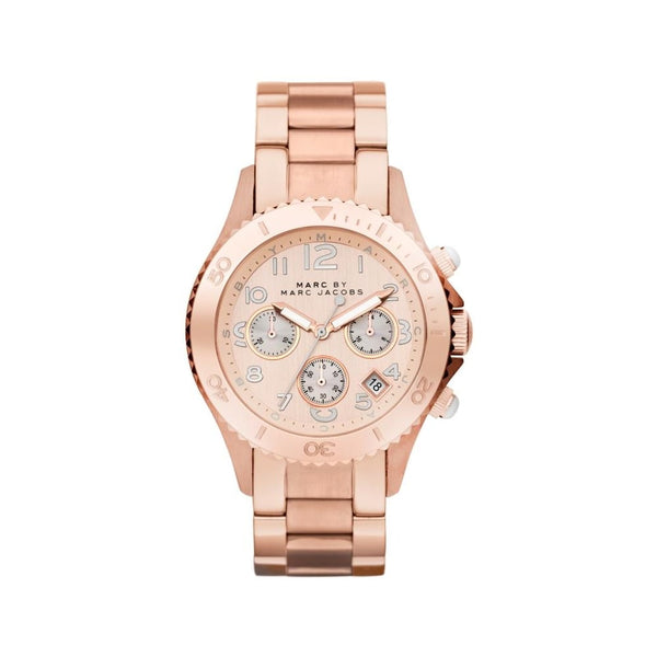 Marc Jacobs MBM3156 Chronograph Quartz Rose Gold Stainless Steel Women Watch
