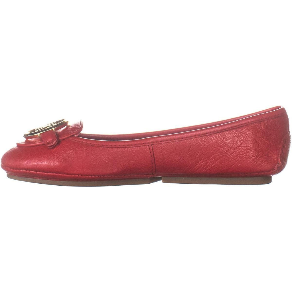 michael kors 40r9lifp2l  Women Lillie Moccasin Bright Red Leather Size 7.5
