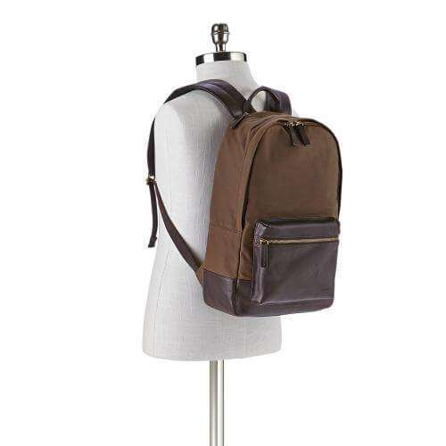 tas-Mbg9298200-Fossil Estate Fabric Backpack Brown-Balilene