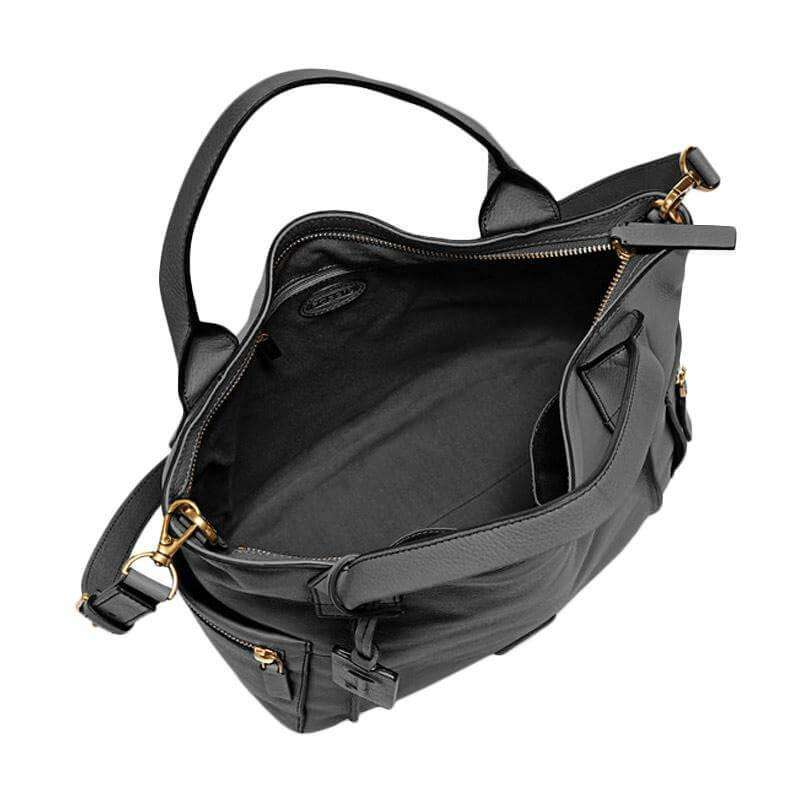 tas-ZB6458001-Fossil Emerson Satchel Bag Black Leather-Balilene