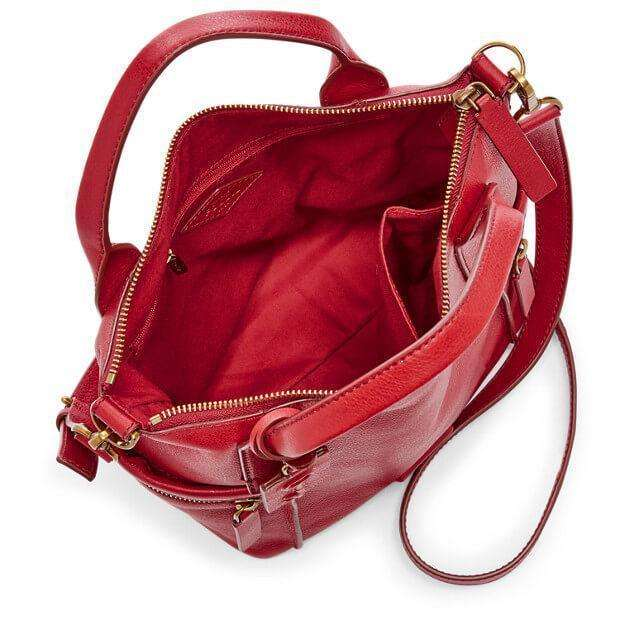 tas-Zb6458622-Fossil Emerson Satchel Leather Bag Real Red-Balilene
