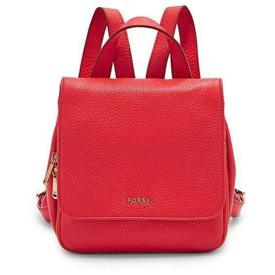 tas-ZB6731616-Fossil Preston Mini Backpack Tomato-Balilene