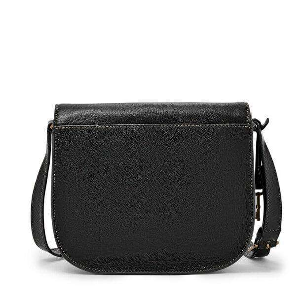 tas-ZB6851001-Fossil Emi Saddle Bag Black-Balilene