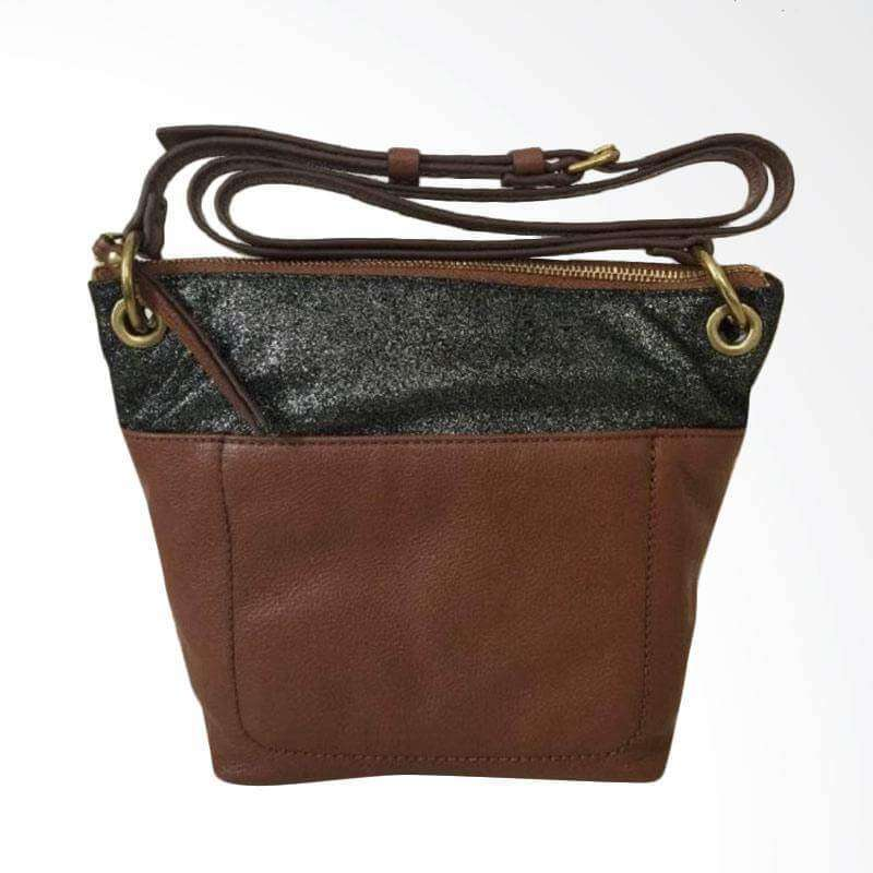 tas-Zb6933914-Fossil Keely Multi Brown Leather Crossbody Shoulder Purse-Balilene