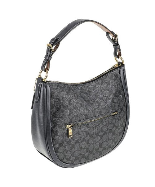 Coach 38580 Sign Sutton Hobo Charcoal Midnight Navy
