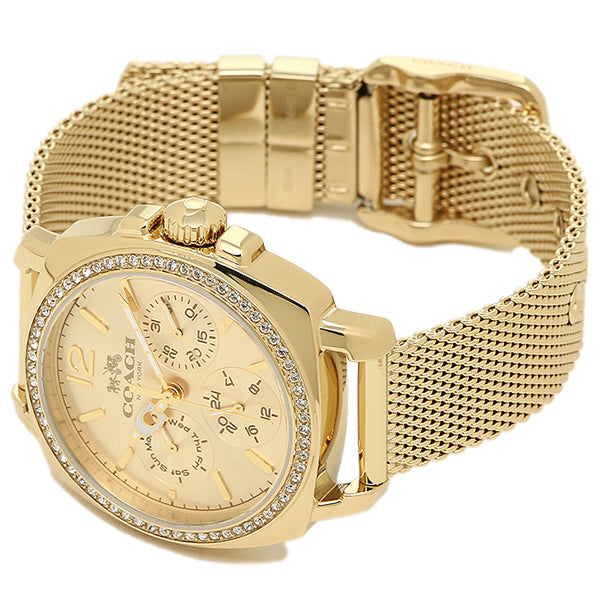 Coach 14502490 Gold Tone Steel Boyfriend Watch