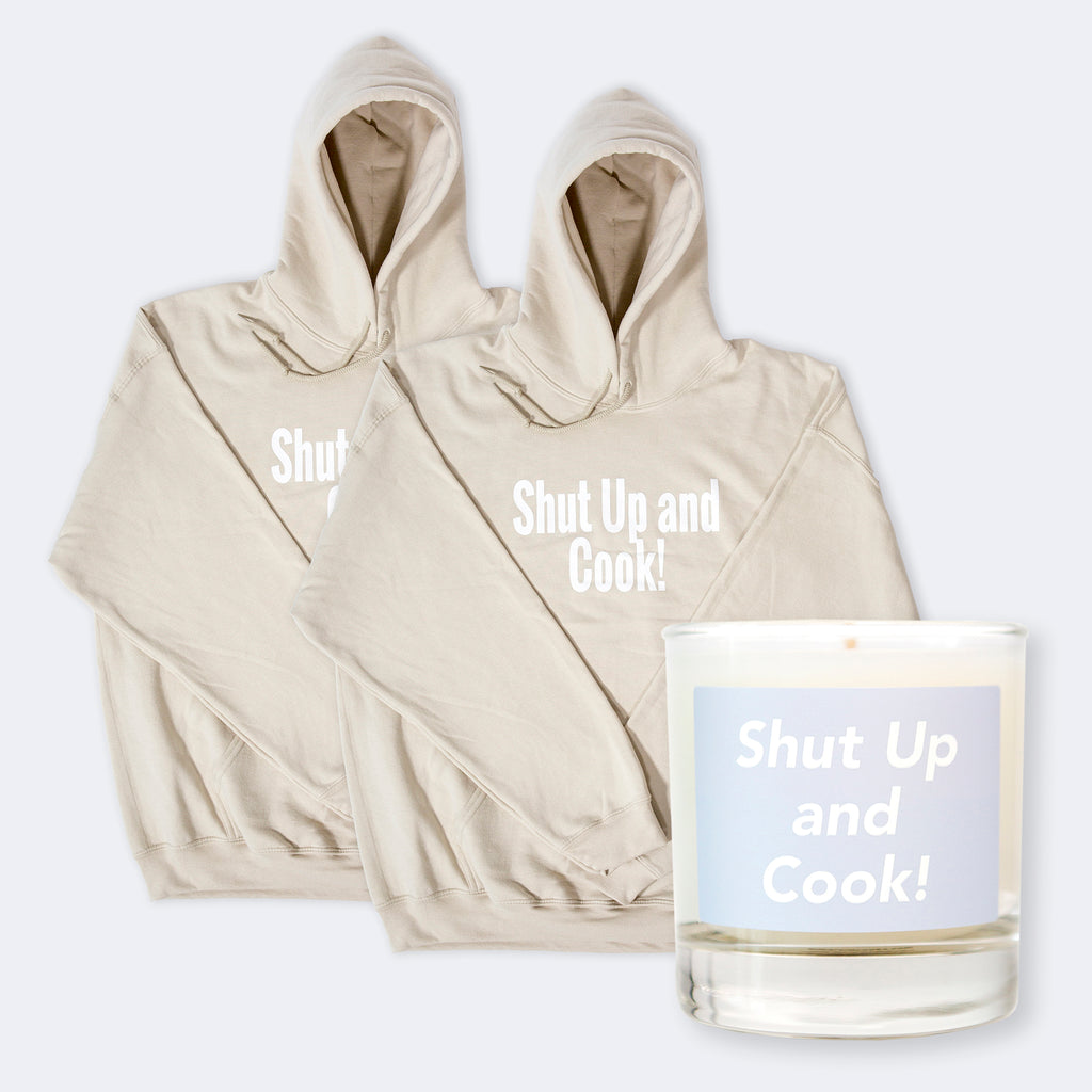 Limited time only! Buy 2 sweatshirts - get a free candle